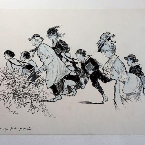 Gustave FRAIPONT (1849 1923) Collections de 95 originaux de Gustave FRAIPONT exé…