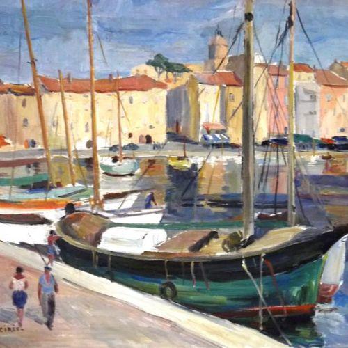 CIREE Marie Louise. (née en 1916) Saint Tropez. Huile sur toile signée en bas à …
