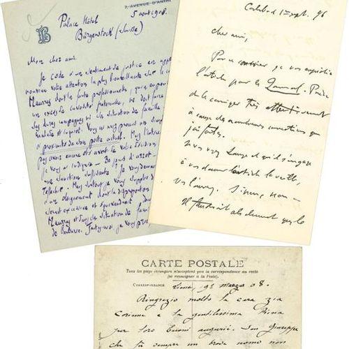 *DIVERS. Environ 75 lettres ou pièces, la plupart L.A.S. Louis Barthou (en faveu…