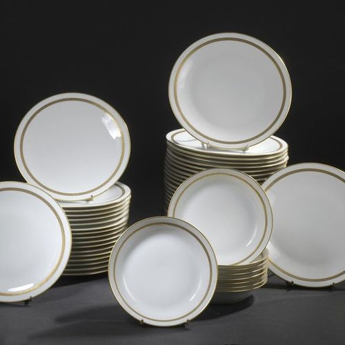 Jean LUCE (1895 1965) for the Manufacture VIGNAUD, LIMOGES. White porcelain dinn…