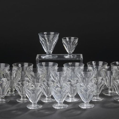 "BACCARAT. Part of cut crystal glass services model ""Talleyrand"". It includes: tw…"