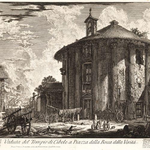 Piranesi, Giovanni Battista, Mogliano/Venise 1720 Rome 1778, Veduta del Tempio d…