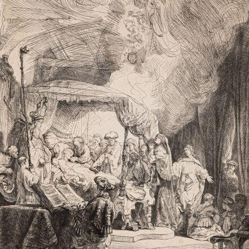 Rembrandt, Harmensz. Van Rijn, Leyde 1606 Amsterdam 1669, Mort de la Vierge. Gra…
