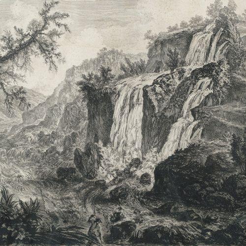 Piranesi, Giovanni Battista, Mogliano/Venise 1720 Rome 1778, Veduta delle Cascat…