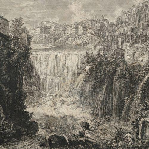 Piranesi, Giovanni Battista, Mogliano/Venise 1720 Rome 1778, Veduta della Cascat…