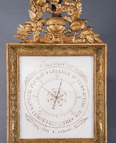 """French barometer with inscription """"PAR ROCHELLE OPTICIEN AUX BATIGNOLE MONCEAUX …"""