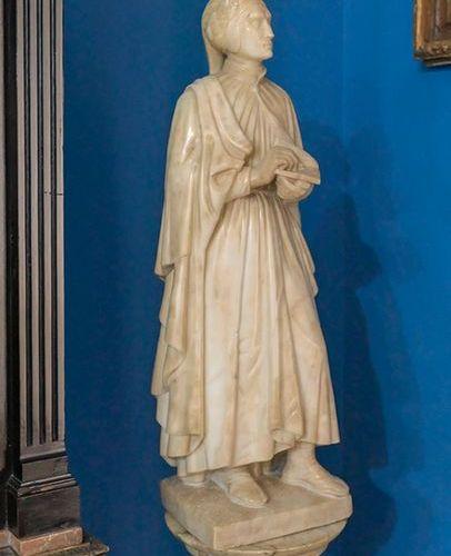 "ESCUELA ITALIANA ¿FLORENTINA? 2ª MITAD DEL S. XIX ""Dante Alighieri"" Escultura en…"