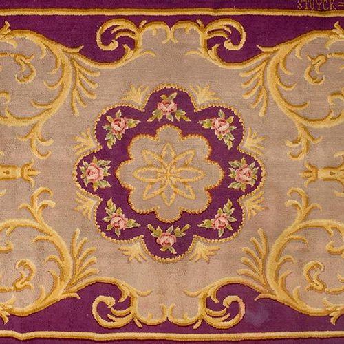 Tapis espagnol en laine nouée portant les marques de la manufacture royale de ta…