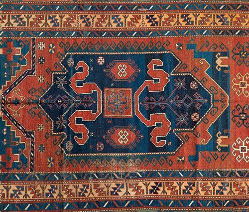 """Old Caucasian carpet KARABAGH """"CLOUDBAND"""". Kalbajar district, in Azerbaijan. Sec…"""
