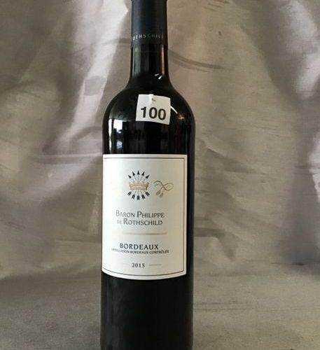 6 bt Bordeaux rouge Philippe de Rothschild dans leur carton d'origine fermé Gran…