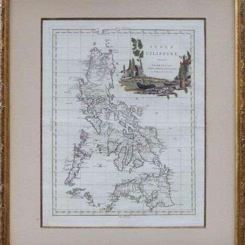 ANTONIO ZATTA (1757 1797).Islas Filipinas Gravure enluminée à la main. 50,5 x 37…