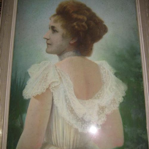 Emile BOULARD (1863 1943)  Portrait of a woman from the back  Pastel  Signed E.B…