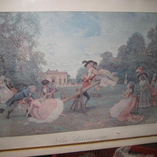 Two reproductions of colour prints