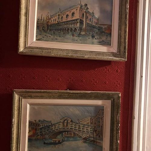 Italian School of the 20th century  Views of Venice  Two oils on canvas  Signatu…