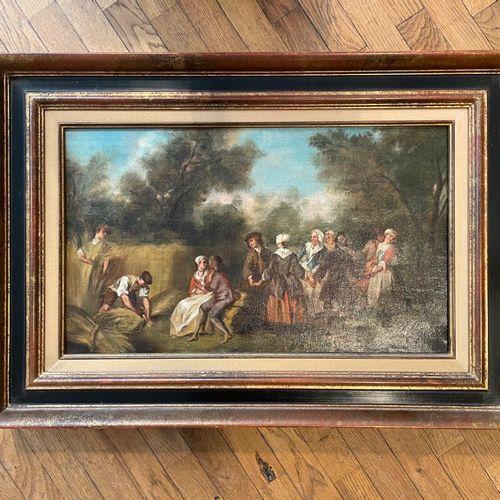 20th Century School  Bucolic scene  25.5 x 38 cm