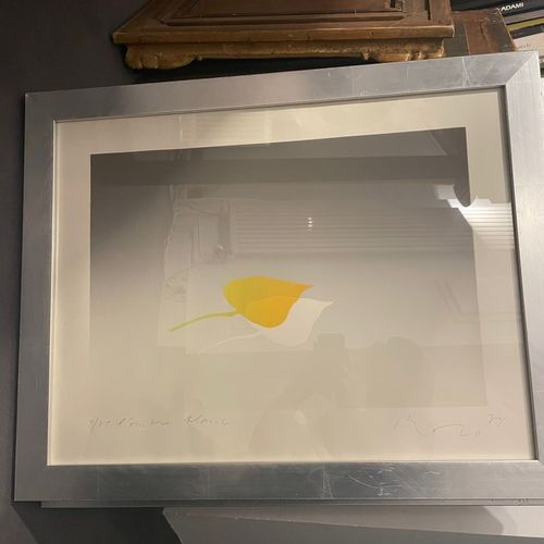 KOZO (XX)  The white shadow  Lihograph on paper signed lower right, titled and n…