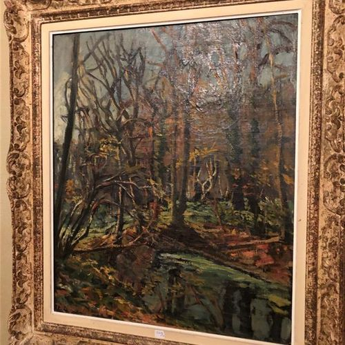 F. LAVAL ( 1886 1966)  Landscape  Oil on canvas signed lower left  63 x 52,5 cm