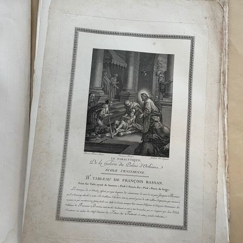 Important lot of engravings some from the gallery of the Palais d'Orléans, lands…