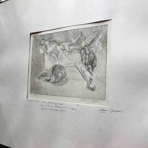 """Jacques VILLON (after)  """"As you wish.""""  Lithography  Artist's proof signed  20 x…"""