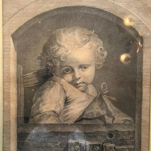 """Lot comprising :     Two engravings """"the distracted observer"""" and a portrait of …"""