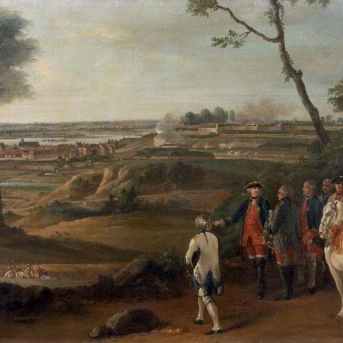 Pierre LENFANT (Anet 1704 Paris 1787) Le siège de Mons par l'armée du roi Toile.…