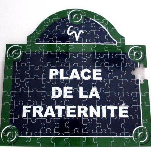 Christophe VERDON Place de la fraternité Plaque émaillée numérotée 2/8 et signée…