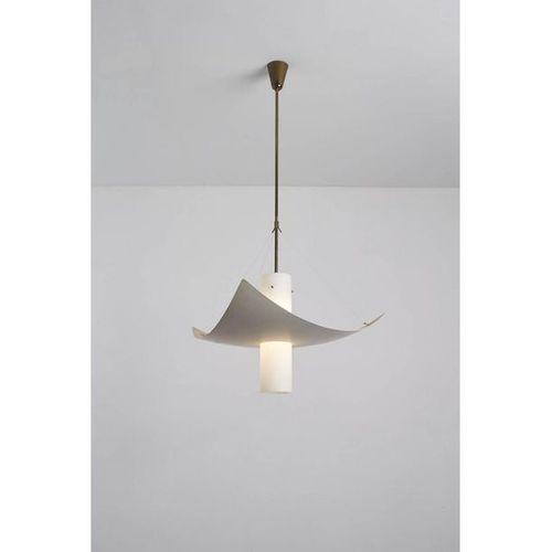 Angelo Lelii (1915 1987)  Suspension  Laiton, aluminium et verre  Edition Arredo…
