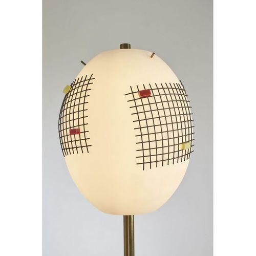 "Angelo Lelii (1915 1987)  Modèle n° 12626 dit ""Butterfly""  Lampadaire  Laiton, m…"