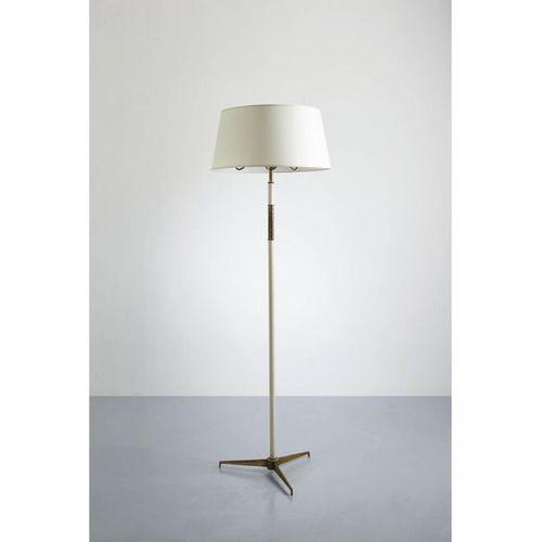 Angelo Lelii (1915 1987)  Floor lamp  Brass, and painted metal  Arredoluce editi…