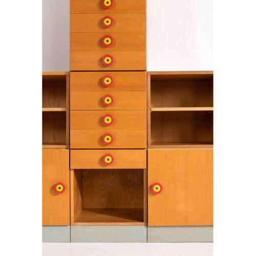 Ettore Sottsass (1917 2007)  Kubirolo  Bibliothèque modulable composée de douze …