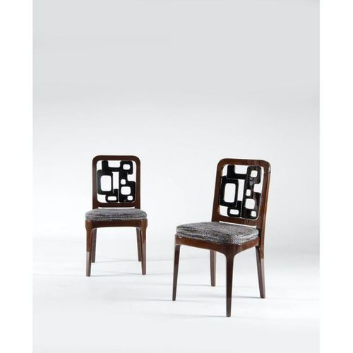 Oitoemponto (founded in 1993)  Puzzle  Pair of chairs  Rosewood, lacquer and fab…