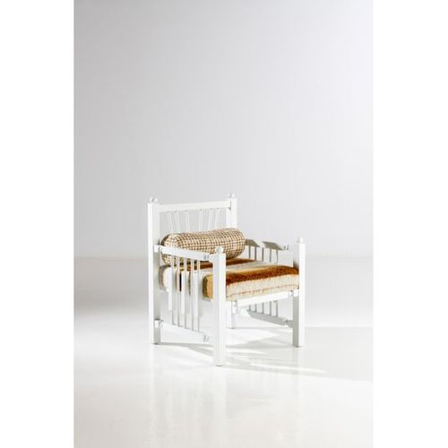 Laura Gonzalez (born 1983)  Madras N°1/8  Armchair  Lacquered wood and fabric  O…