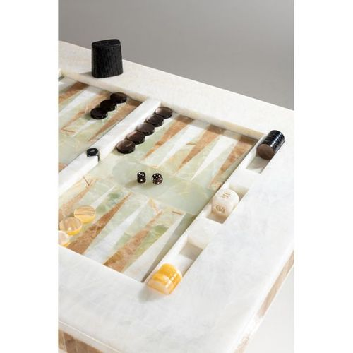 Laura Gonzalez (born 1983)  Backgammon Unique piece  Gaming table  Onyx, Plexigl…