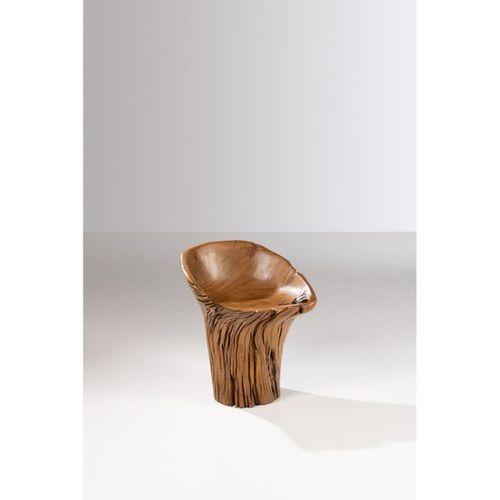 Hugo França (born 1954)  Guasca Unique piece  Stool  Pequi wood  Signed Hugo Fra…