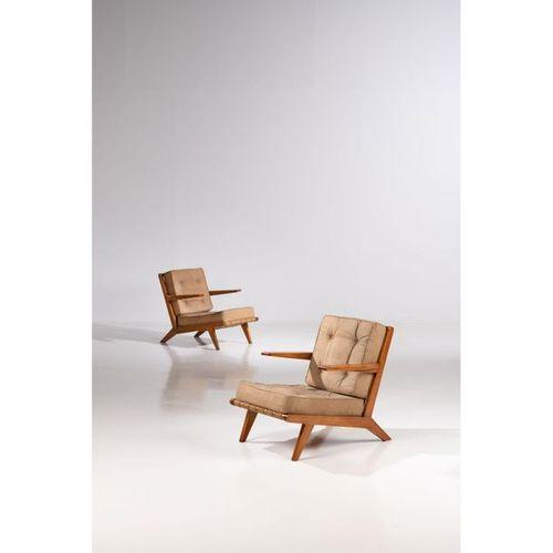 Ƒ Joaquim Tenreiro (1906 1992)  Sonambula  Pair of armchairs  Pau marfim wood an…
