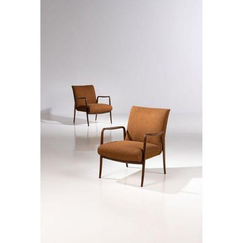 Joaquim Tenreiro (1906 1992)  Poltrona Leve  Pair of armchairs  Imbuia wood and …