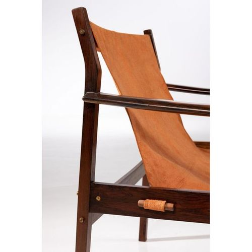 Ƒ Jorge Zalszupin (1922 2020)  Model n°720  Pair of armchairs  Imbuia wood and f…