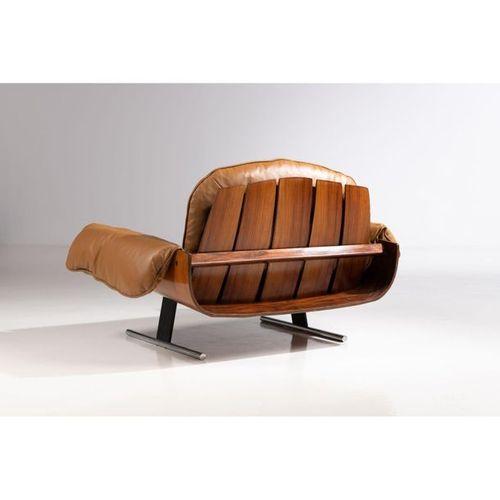 Ƒ Jorge Zalszupin (1922 2020)  Poltrona Presidencial  Pair of armchairs  Metal, …