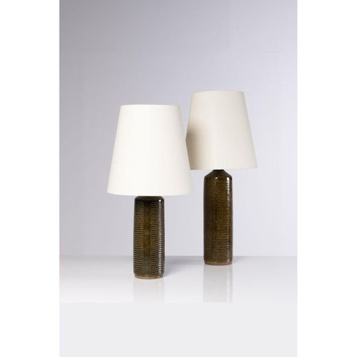 Per Linnemann Schmidt (XX)  Set of two table lamps  Ceramic  Pahlsus edition  Si…