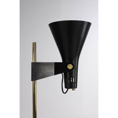 René Jean Caillette (1919 2004)  Floor lamp B4  Lacquered aluminium, brass and t…