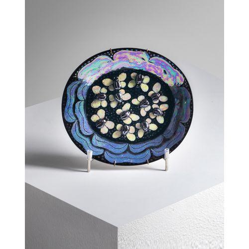 Birger Kaipiainen (1915 1988)  Plat Pièce unique  Céramique émaillée  Modèle cré…