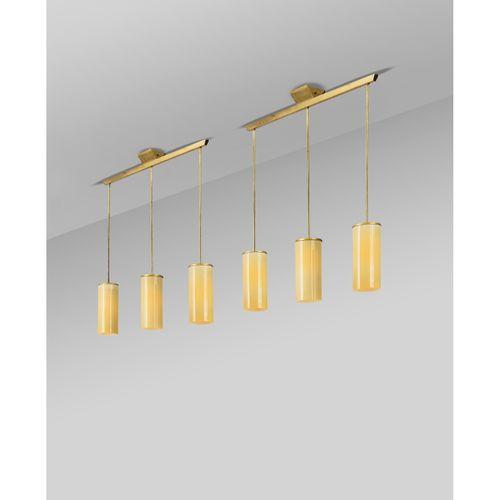 Paavo Tynell (1890 1973)  Modèle n°1955/3  Paire de suspensions  Laiton et verre…