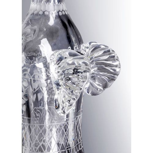 Tapio Wirkkala (1915 1985)  Puurauha Pièce unique  Sculpture  Cristal  Gravée 'W…