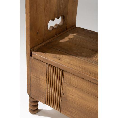 Eliel Saarinen (1873 1950)  Banc  Chêne  Modèle créé vers 1910  H 63 × L 74 × P …