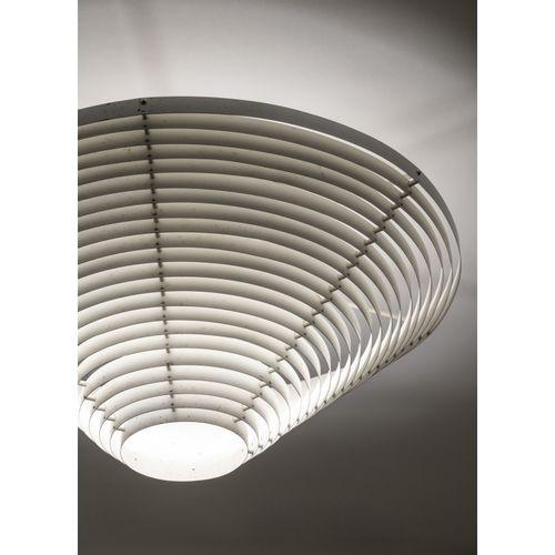 Alvar Aalto (1898 1976)  Modèle n°A622A  Plafonnier  Métal  Édition Valaistustyö…