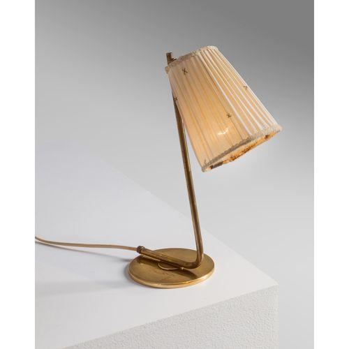 Paavo Tynell (1890 1973)  Lampe de table  Laiton et textile  Édition Idman  Grav…