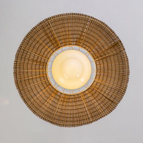 Gunilla Jung (1905 1939)  Paire de suspensions  Métal, bois et verre  Modèle cré…