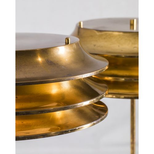 Kai Ruokonen (1940 2010)  Paire de lampes de table  Laiton  Modèle créé vers 195…