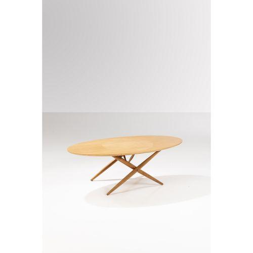 Ilmari Tapiovaara (1914 1999)  Table basse  Teck et métal  Édition Asko, Finland…