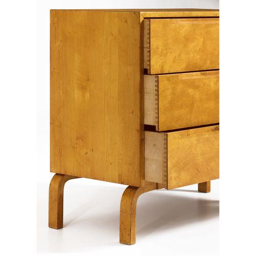 Alvar Aalto (1898 1976)  Commode  Bouleau  Édition Artek  Estampillée 'Aalto Des…